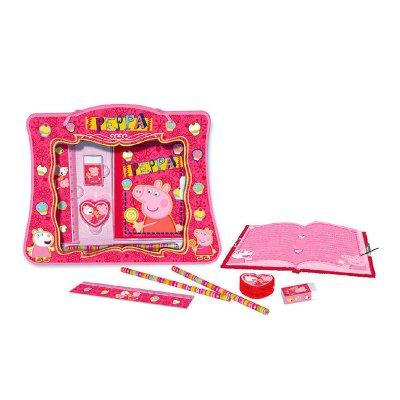 Set papelería con diario Peppa Pig - modelo rosa