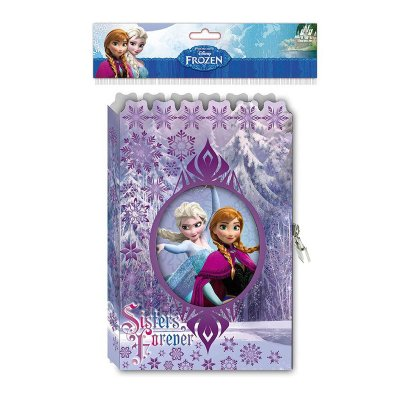 Diario con candado en caja Frozen