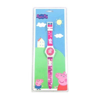 Reloj analógico rosa Peppa Pig