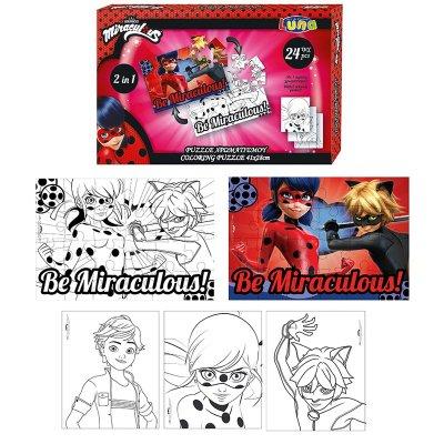 Wholesaler of Puzzle para colorear 2 en 1 Prodigiosa Ladybug 24pcs
