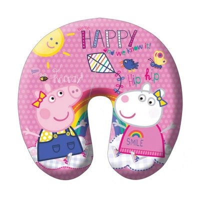 Cojin rosa micro bolitas Peppa Pig