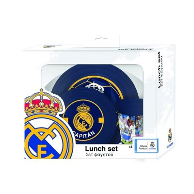 Set desayuno plástico Real Madrid