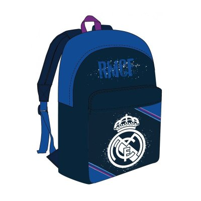 Mochila azul 40cm con cremallera F.C. Real Madrid