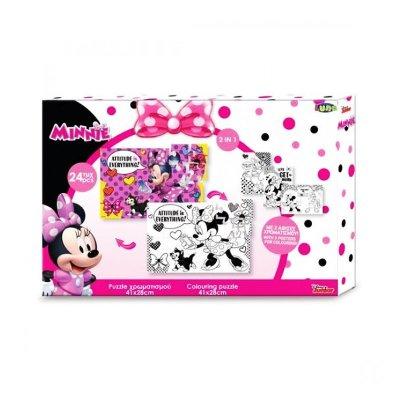 Puzzle Minnie Mouse 2 en 1 24pzs