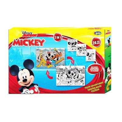 Puzzle Mickey Mouse 2 en 1 24pzs