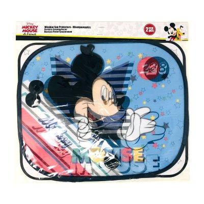 2 parasoles laterales Mickey Disney con lámina colorear