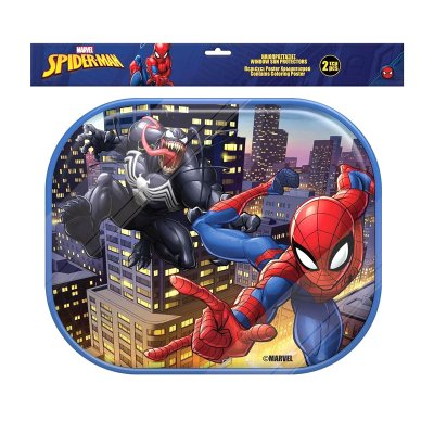 2 parasoles laterales Spiderman c/lámina colorear