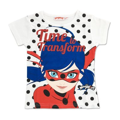 Camiseta purpurina Ladybug Time to Transform 5 tallas
