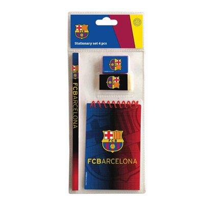 Set de papelería 4 piezas F.C. Barcelona