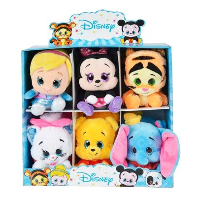 Expositor peluches Disney Glitzies 15cm 6 modelos serie 1
