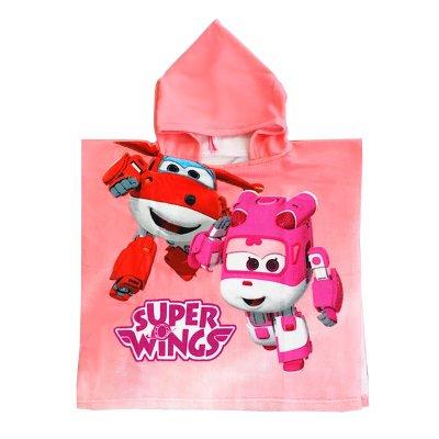 Poncho con capucha toalla microfibra Super Wings Dizzy Jett