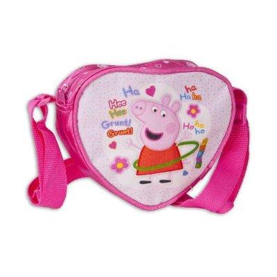 Bolsito corazón bandolera Peppa Pig purpurina