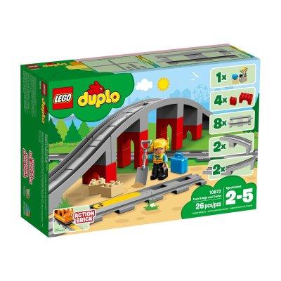 Puente y vías ferroviarias Lego Duplo