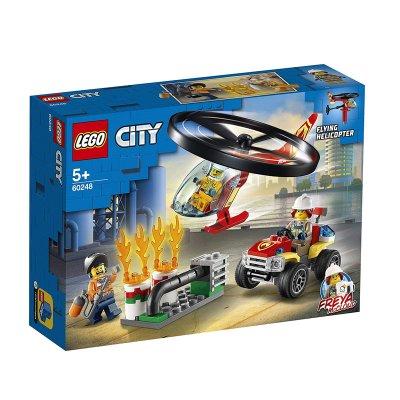 Intervención del Helicóptero de Bomberos Lego City