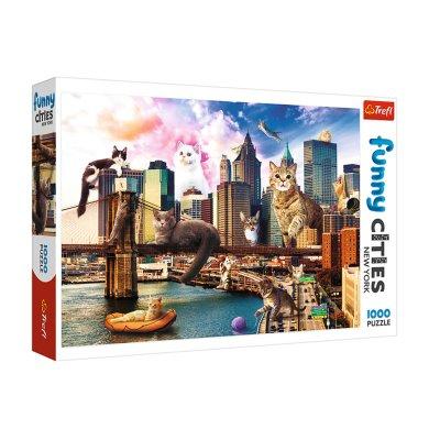 Wholesaler of Puzzle Funny Cities Gatos en Nueva York 1000pz