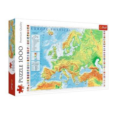Wholesaler of Puzzle Premium Quality Mapa físico de Europa 1000pzs