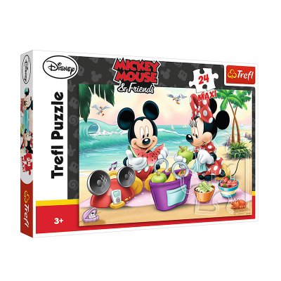Puzzle Maxi Picnic Minnie y Mickey 24pzs