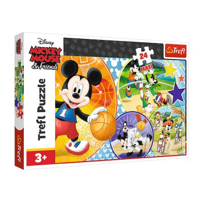 Puzzle Maxi Deporte Mickey Mouse & Friends 24pzs