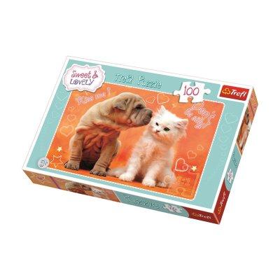 Puzzle Dog & Cat 100pzs