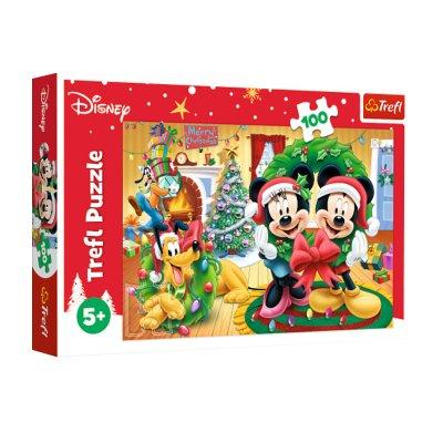 Puzzle Mickey & Minnie Navidad 100pzs