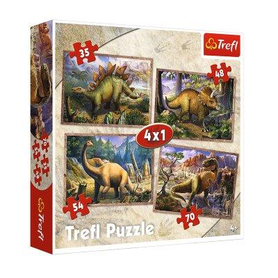 Wholesaler of Puzzles 4 en 1 Dinosaurios 35 48 54 70pzs
