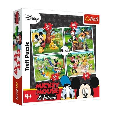 Wholesaler of Puzzles 4 en 1 Mickey Mouse 35 48 54 70 pzs