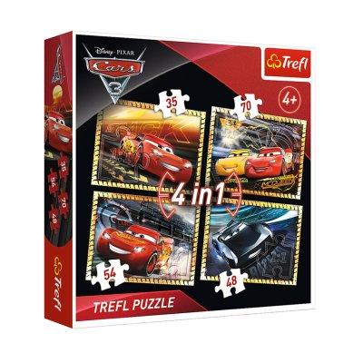 Wholesaler of Puzzles 4 en 1 Cars 3 Disney 35 48 54 70 pzs