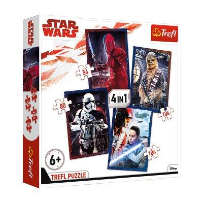 Puzzles 4 en 1 Star Wars 54 80 104 104pzs