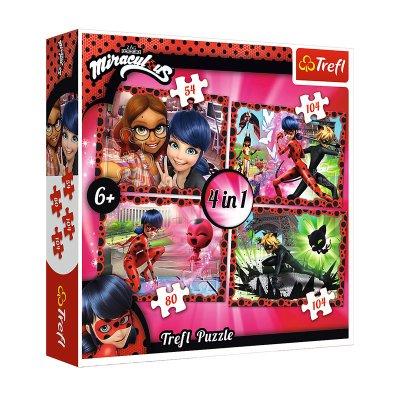 Puzzles 4 en 1 Ladybug 54 80 104 104pzs