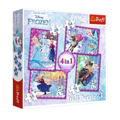 Puzzles 4 en 1 Frozen Disney 35 48 54 70 pzs