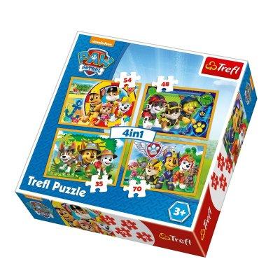 Puzzles 4 en 1 Paw Patrol 35 48 54 70 pzs