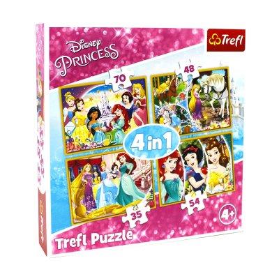 Puzzles 4 en 1 Princesas Disney 35 48 54 70 pzs