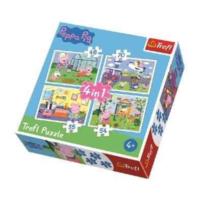 Puzzles 4 en 1 Peppa Pig 35 48 54 70pzs