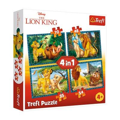 Wholesaler of Puzzles 4 en 1 El Rey León 35 48 54 70pzs