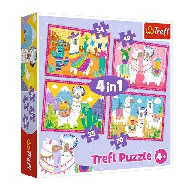 Wholesaler of Puzzles 4 en 1 Llamas de vacaciones 35 48 54 70pzs
