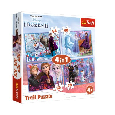 Wholesaler of Puzzles 4 en 1 Frozen 2 Disney 35 48 54 70pzs