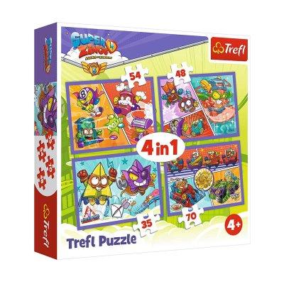 Puzzles 4 en 1 Superzings 35 48 54 70 pzs