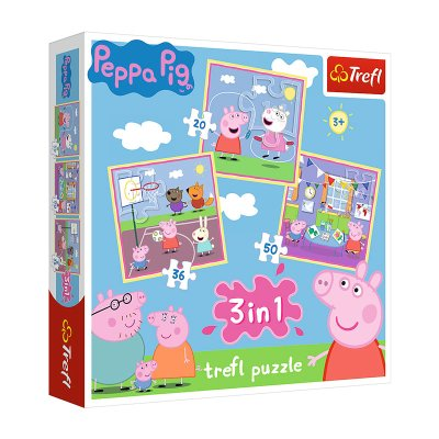 Wholesaler of Puzzles 3 en 1 Peppa Pig 20 36 50pzs
