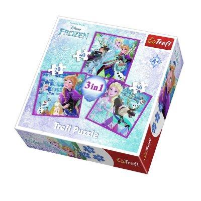 Puzzles 3 en 1 Frozen Disney 20 36 50pzs