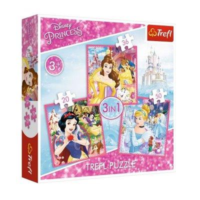 Wholesaler of Puzzles 3 en 1 Fantasía Princesas Disney 20 36 50pzs