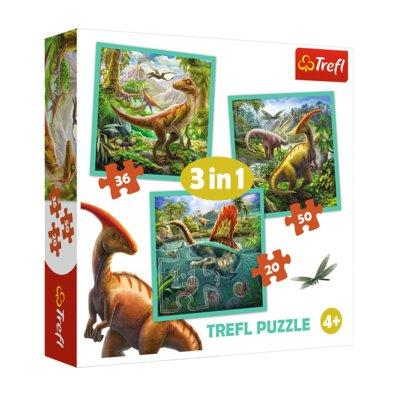 Wholesaler of Puzzles 3 en 1 Mundo de dinosaurios 20 36 50pzs