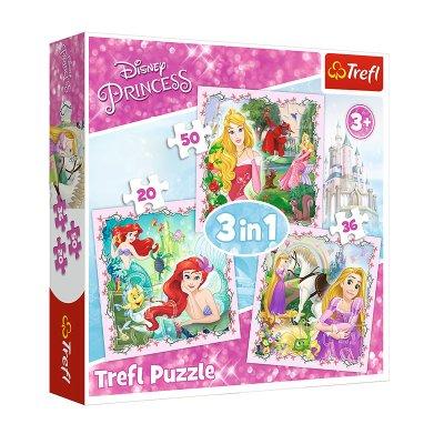 Wholesaler of Puzzles 3 en 1 Princesas Disney 20 36 50pzs