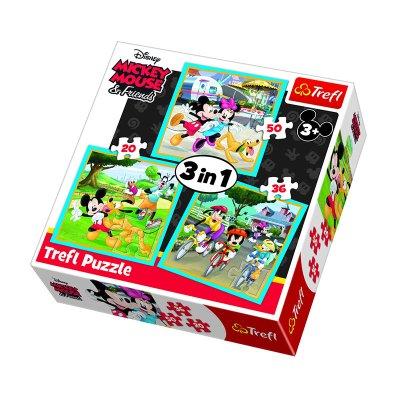 Wholesaler of Puzzles 3 en 1 Mickey Mouse & Friends 20 36 50pzs