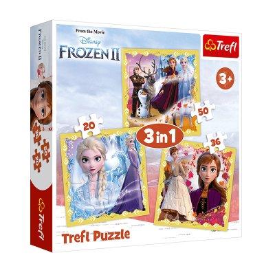 Wholesaler of Puzzles 3 en 1 Frozen 2 Disney 20 36 50pzs