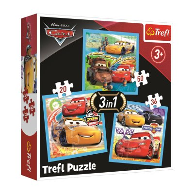 Puzzles 3 en 1 Cars Disney 20 36 50pzs