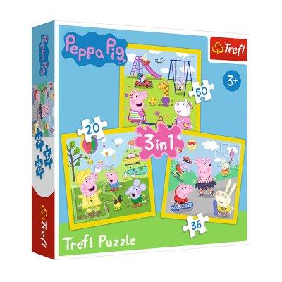 Wholesaler of Puzzles 3 en 1 Happy Peppa Pig 20 36 50pzs