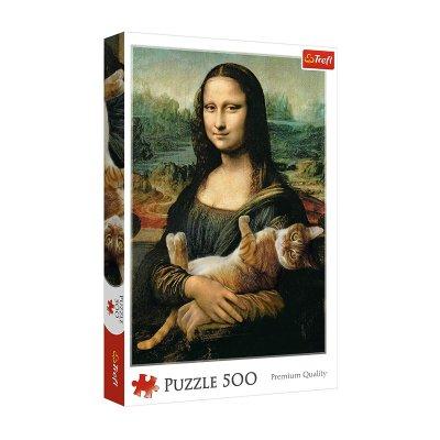 Wholesaler of Puzzle Premium Quality Mona Lisa con gato 500pzs