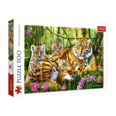 Wholesaler of Puzzle La familia de tigres 500pzs