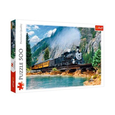 Wholesaler of Puzzle Premium Quality Tren en la montaña 500pzs