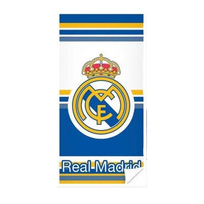 Toalla microfibra Real Madrid blanca y azul